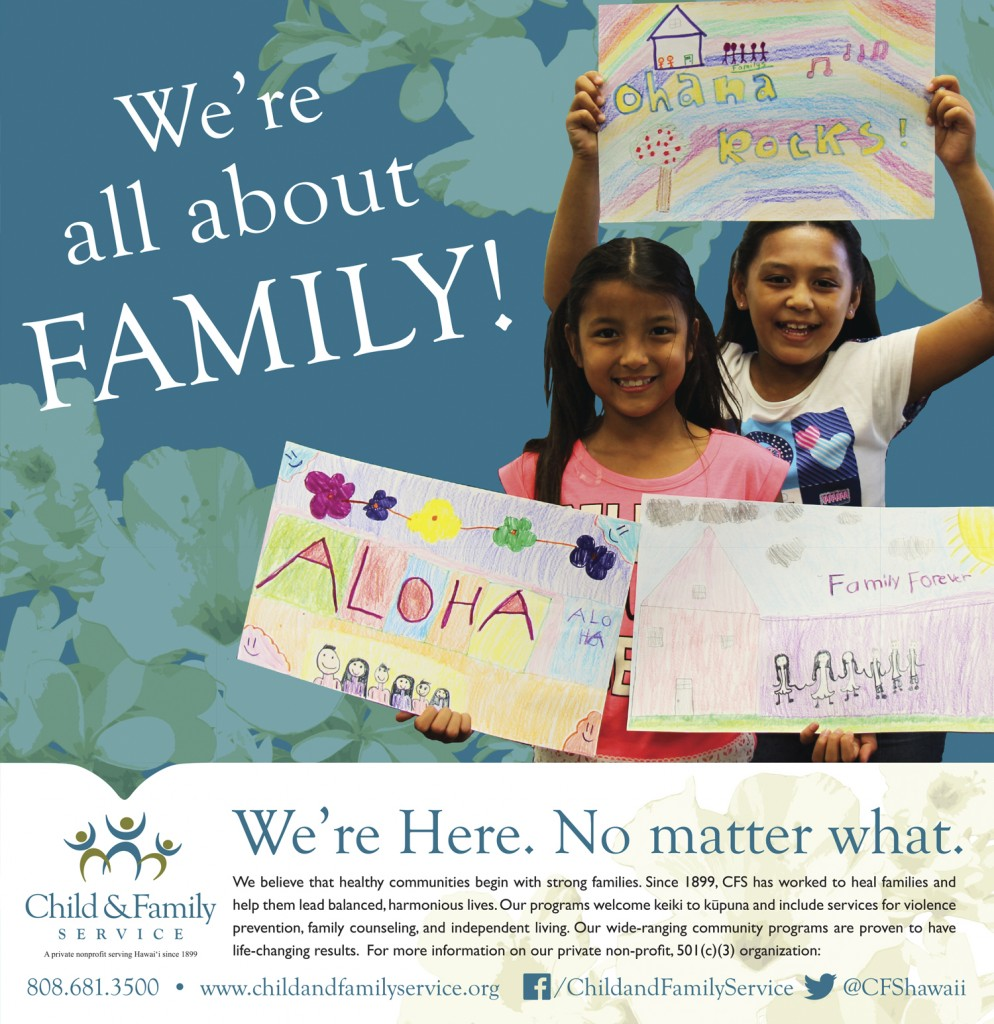 2015 Honolulu Star-Advertiser Community Support Guide - Child & Family Service Ad