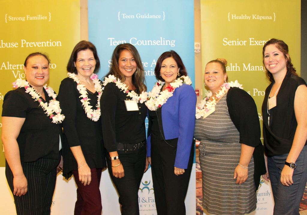 Paula Akana, KITV Anchor, with our group of special speakers!