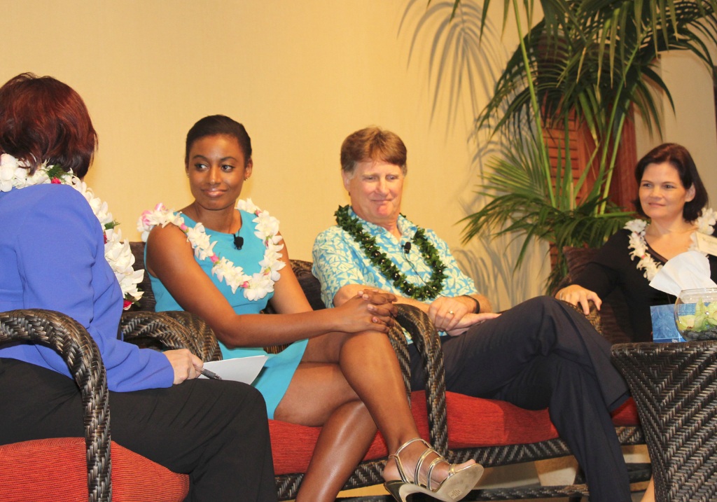 Emcee Paula Akana with our special speakers.