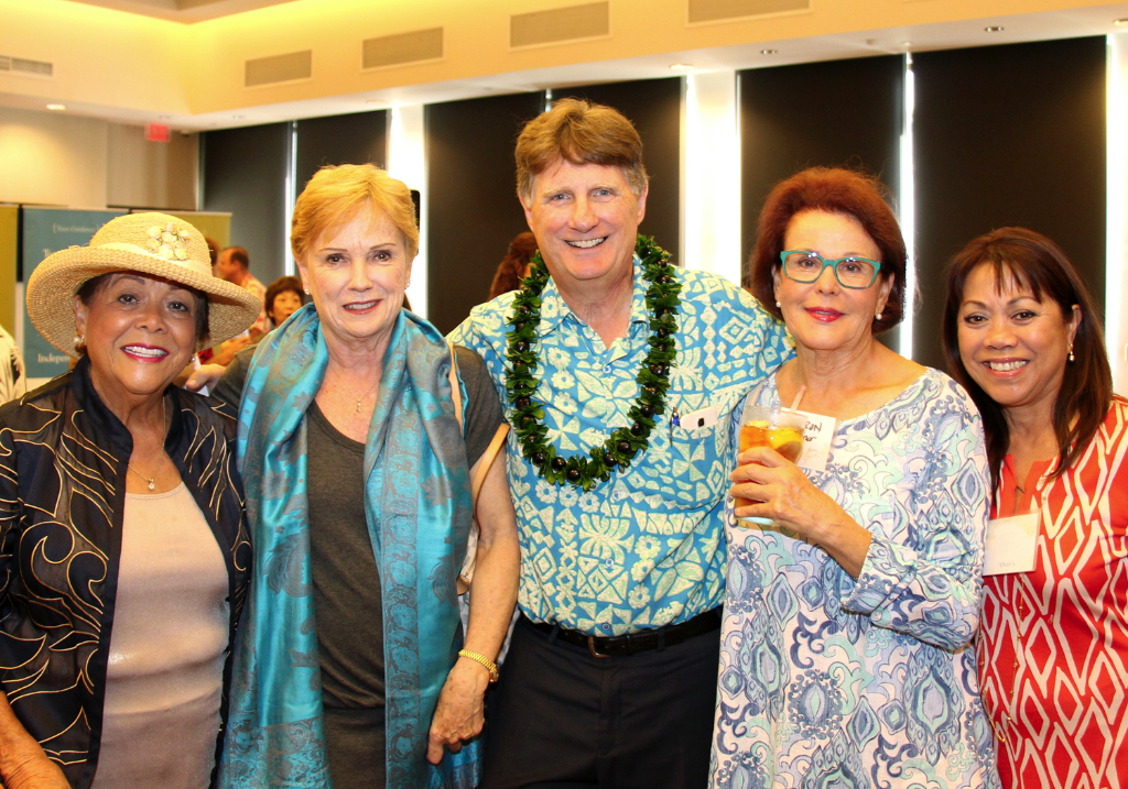 CFS President & CEO Howard Garval (middle) with (L to R) Guild Member Virginia Lippi, Guild Member and Co-Founder Lynn Watanabe, Guild Co-Founder Sharon Weiner, and Guild Member Kathy Mills.