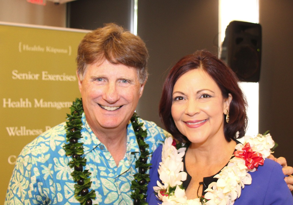 CFS President & CEO, Howard Garval and KITV Anchor and event emcee, Paula Akana.
