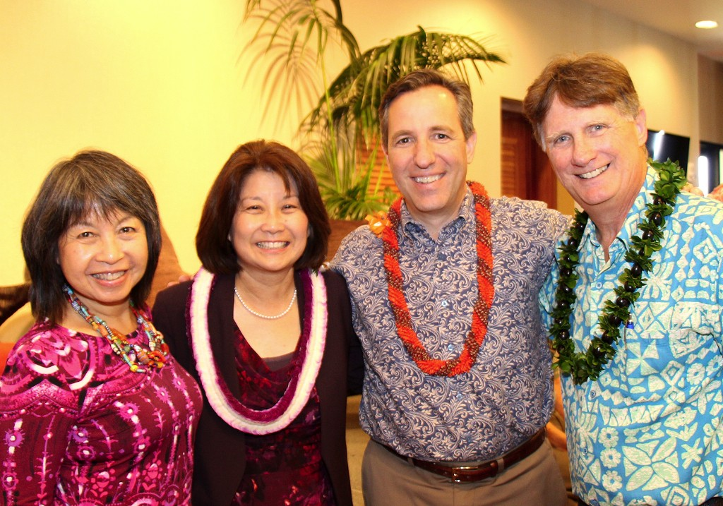 (L to R) CFS Board Member Louise Ing, CFS Board Chair Michele Saito, CFS Past Board Chair Richard Wacker, and CFS President & CEO Howard Garval.