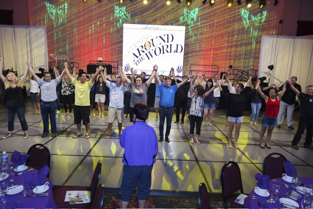 2016 AN EVENING AROUND THE WORLD: Fall Gala Leadership/Performers had one last practice before the doors opened.