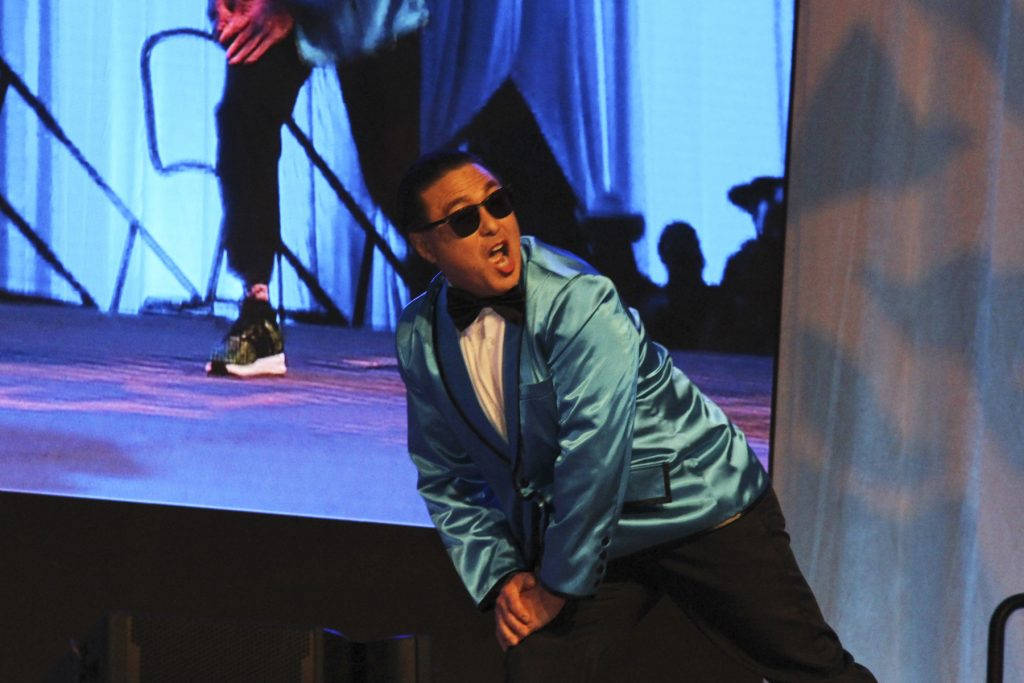 "2016 AN EVENING AROUND THE WORLD: CFS Gangnam Style Dancer Mark Yamakawa (Hawaii Dental Service) shows off his ""PSY"" moves!"