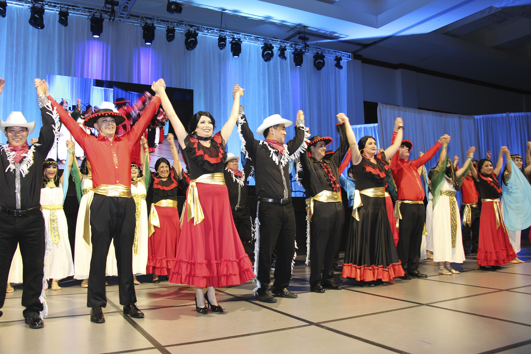 2016 AN EVENING AROUND THE WORLD: The 2016 AN EVENING AROUND THE WORLD Performers take a bow at the end of their performance.