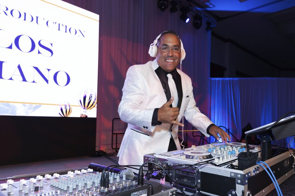 2016 AN EVENING AROUND THE WORLD: East Coast Production - Carlos Feliciano handled the DJ duties again this year!
