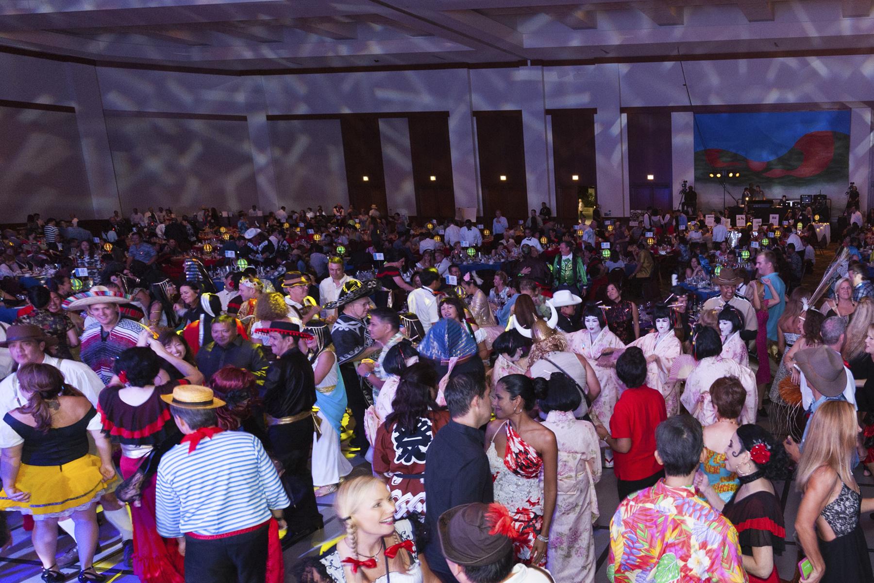 2016 AN EVENING AROUND THE WORLD: A packed dance floor!