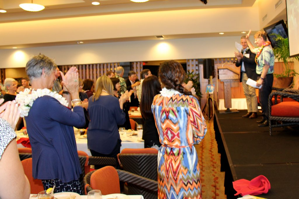 A standing ovation for CFS President & CEO, Howard Garval, after announcing his retirement to the audience.