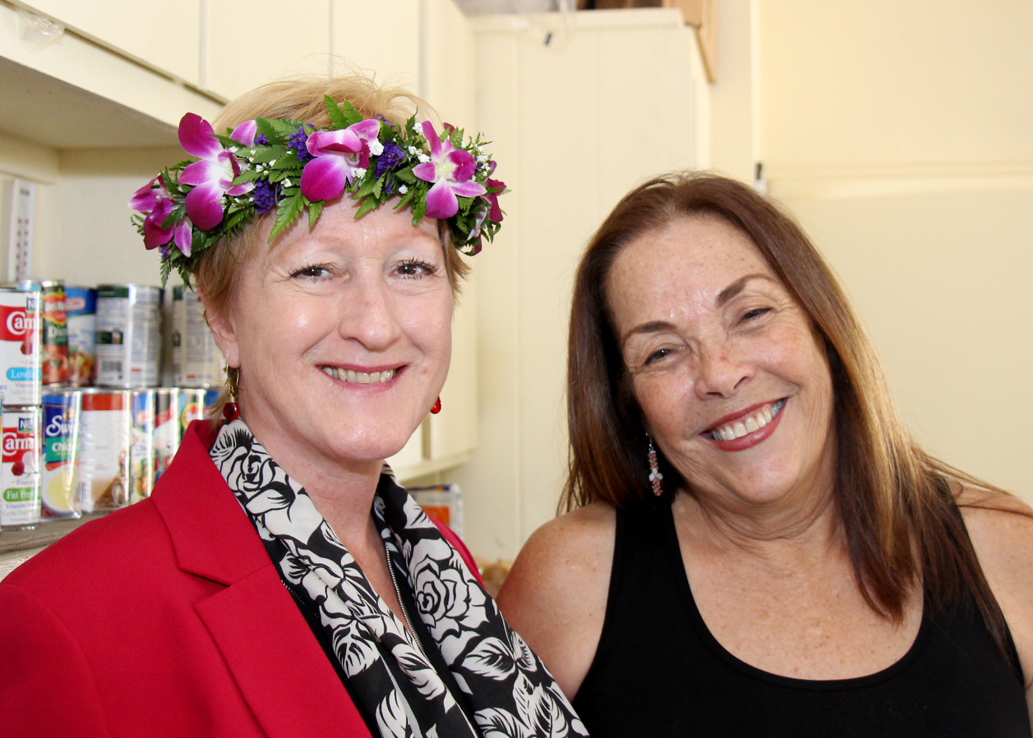 (L to R) Patti Bates (CFS Chief Performance Officer & Nana's House Co-Founder) & Momi Machado (CFS Nana's House Program Manager)