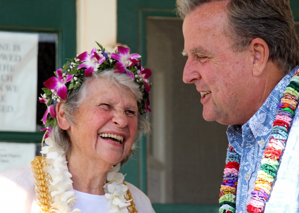 Nana's House Co-Founder Nancy Golden & Kaua'i County Council Member Gary Hooser