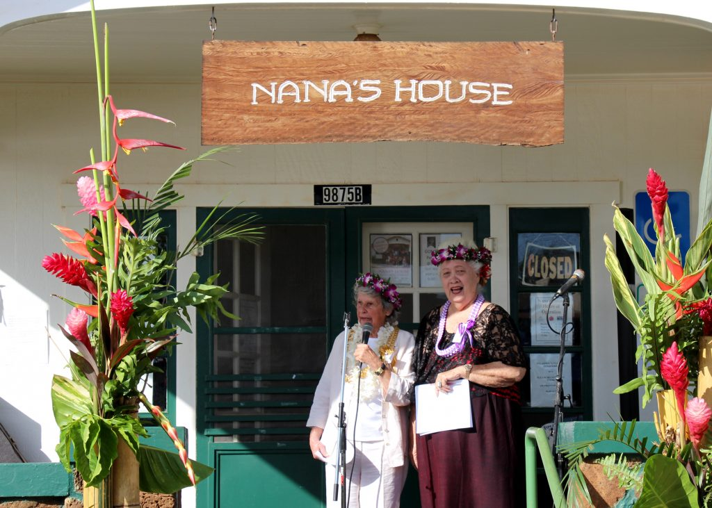 Two of Nana's House Co-Founders Hana Montgomery (left) & Nancy Golden welcome the crowd