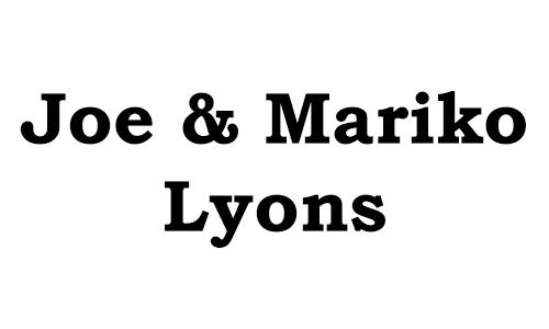 2017 Gold Sponsor: Joe & Mariko Lyons