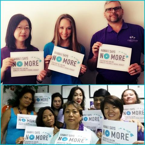 CFS Healing from Trauma Staff Support Hawai'i Says NO MORE!
