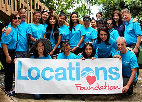 The morning crew of Locations Foundation volunteers started off the Ka Pa Ola program location refresh!  Mahalo to Locations Foundation for their generous volunteer manpower!