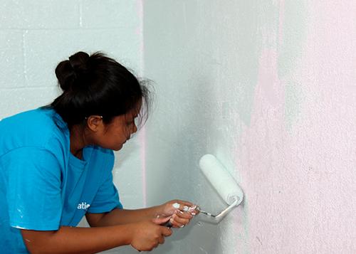 Refreshing the walls at our Ka Pa Ola program location!