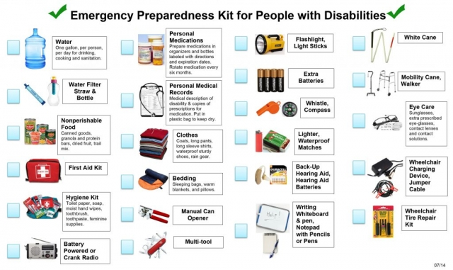 Emergency Kit for People with Disabilities