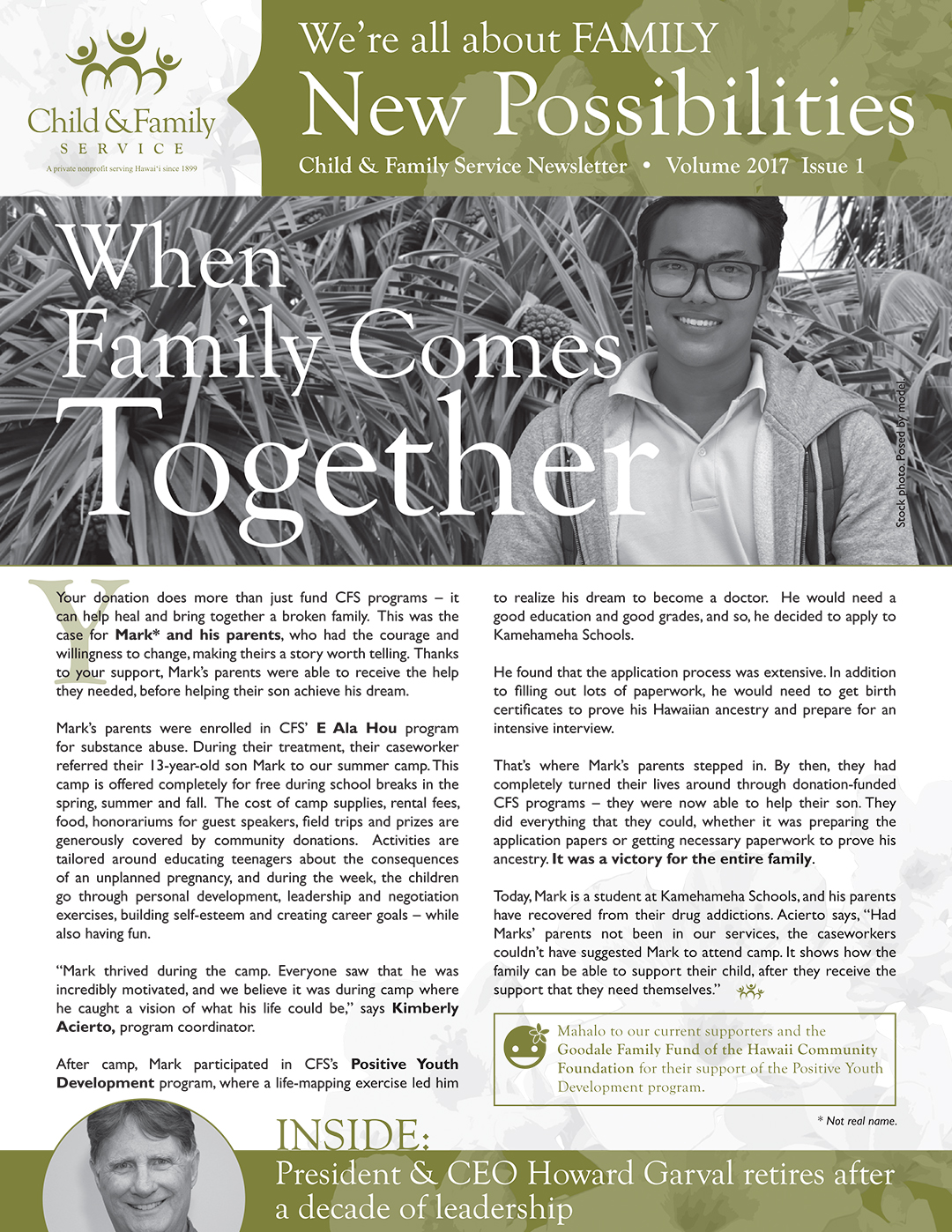 2017 Child & Family Service Donor Newsletter V.1