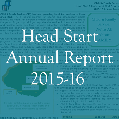 2015-16 Head Start Annual Report