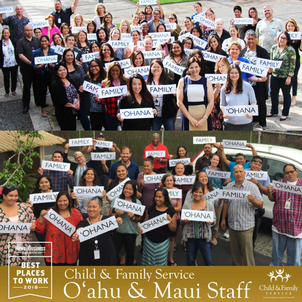 2018 Best Places To Work - CFS O'ahu & Maui Offices
