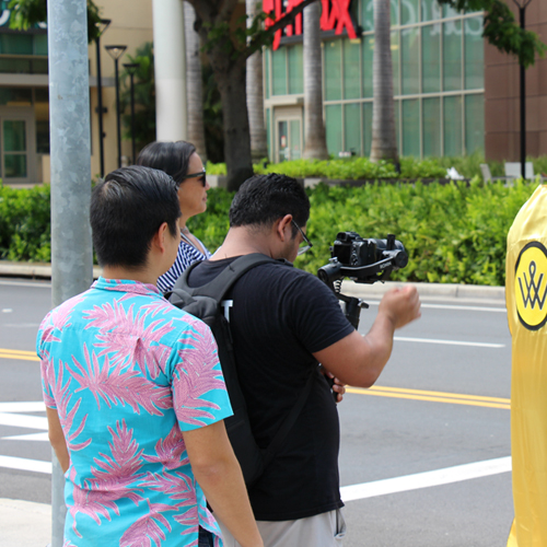 """Bank of Hawaii presents HEROES & LEGENDS Preview! Filming a sponsor """"commercial"""", but what, and who are they filming? Mahalo Banzai Media for filming most of our top sponsors """"commercials"""" this year. Watch them at during the event program!"""