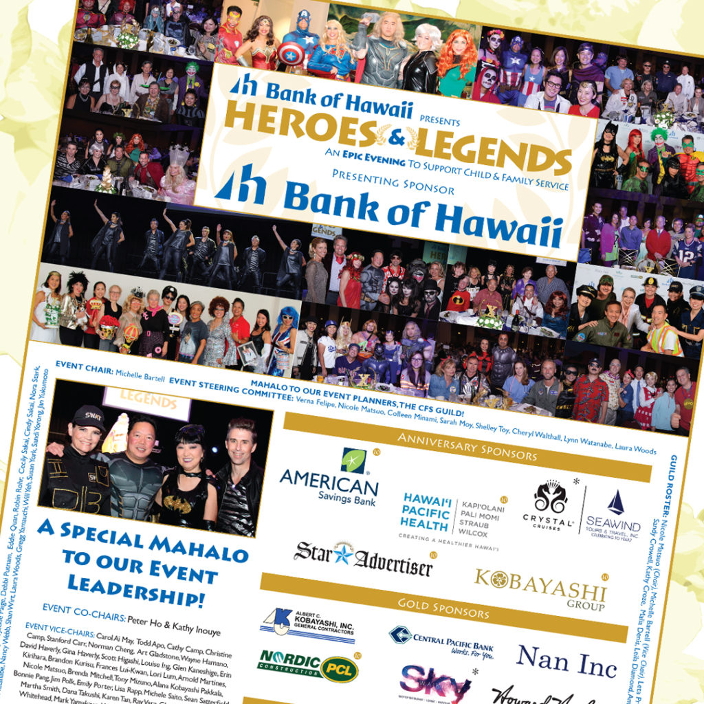 2018 Bank of Hawaii presents HEROES & LEGENDS Mahalo Ad