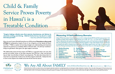Child & Family Service Proves Poverty in Hawai'i is a Treatable Condition