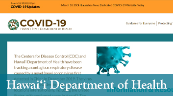 Hawai'i State Department of Health COVID-19 Website