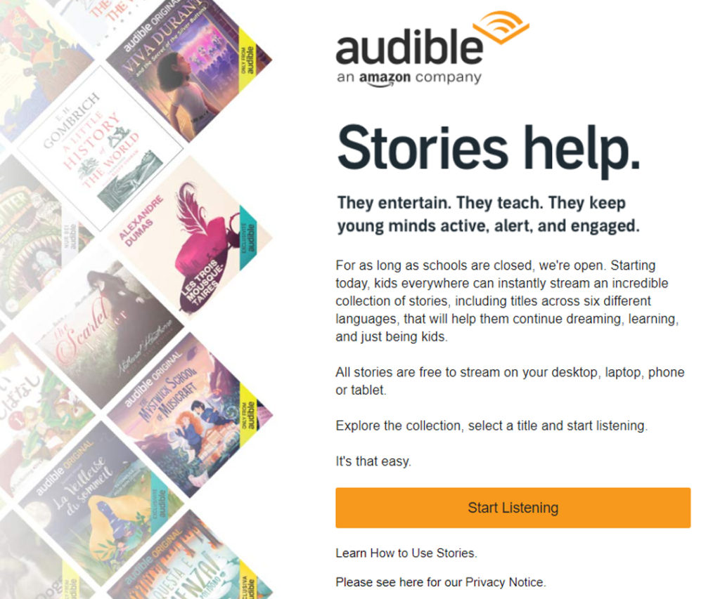 Free Audio Stories from Audible