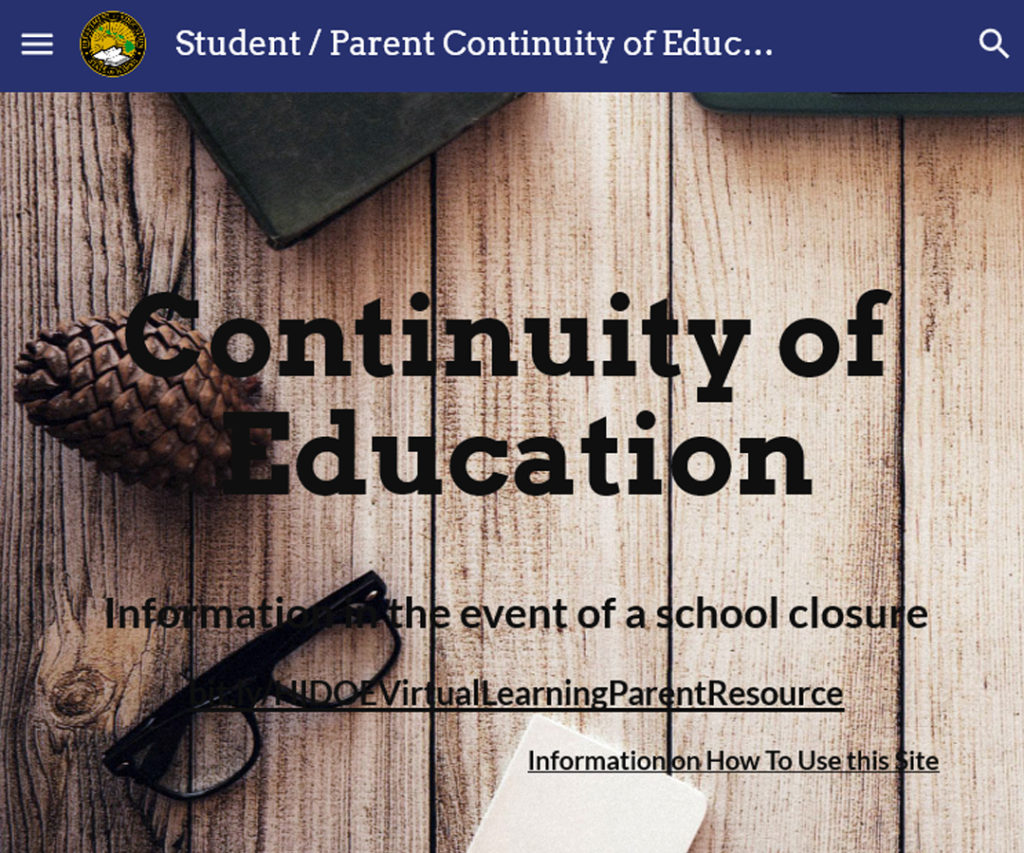 Hawai'i DOE: Continuity of Education Website