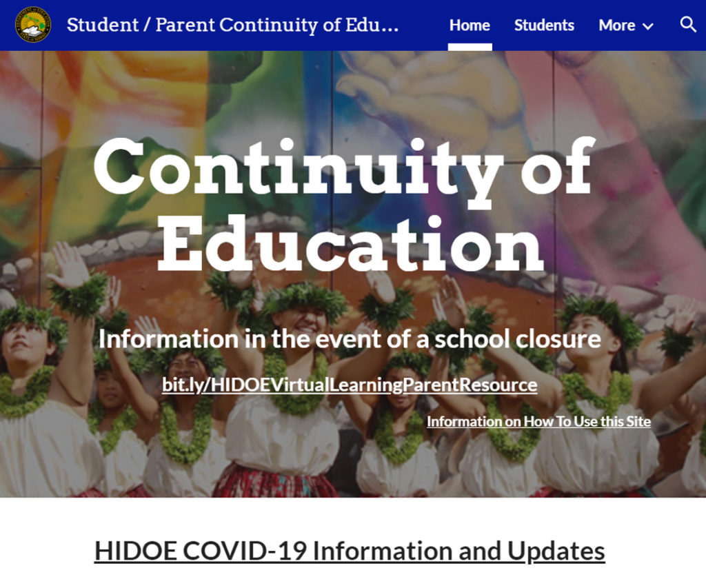Hawai'i DOE: Continuity of Education