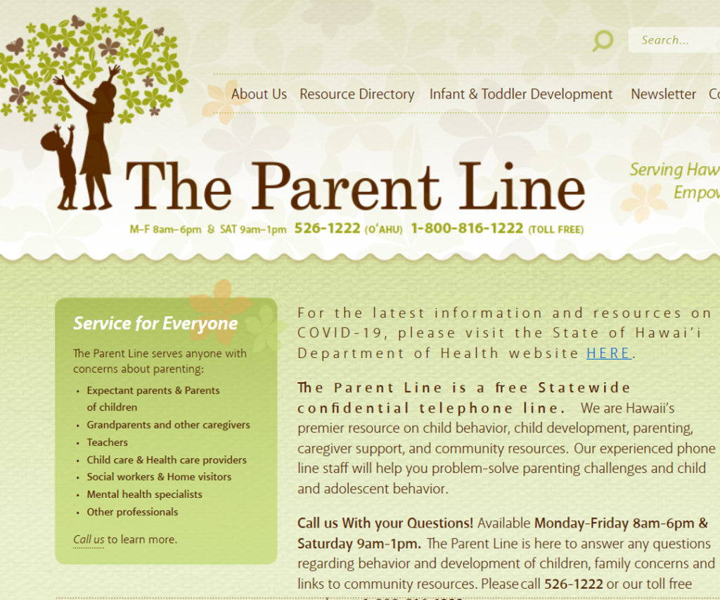 The Parent Line Website