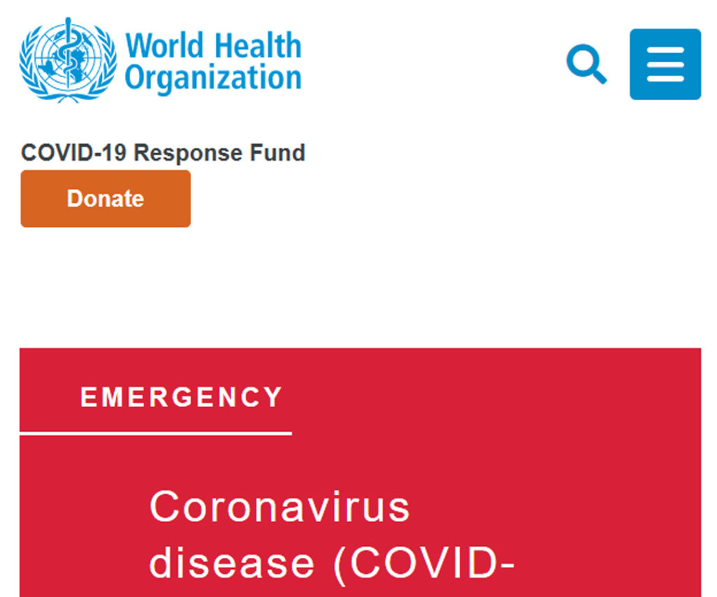 World Health Organization (WHO) Website
